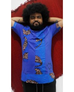 Bata Afro com tecido africano