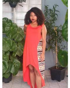 Vestido Afro Sereia Regata-Laranja-GG