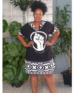 Vestido Resistência Com Tecido Africano