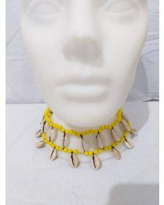 Gargantilha De Búzios-Amarelo