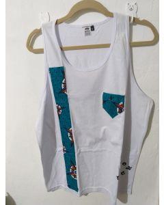 Camiseta Regata Afro Com Tecido Africano