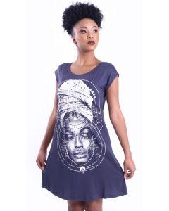 Vestido Resisto OPM - Afrofuturo